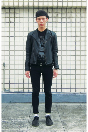 Clarks boots - Cheap Monday jeans - New York Hat hat - the orphans arms t-shirt