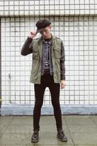 New York Hat hat - H&M jeans - H&M jacket - Zaku Design Factory t-shirt