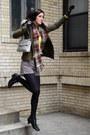 Black-crown-vintage-boots-olive-green-zara-jacket