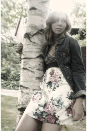 blue Old Navy jacket - yellow Target dress - brown Jennifer boots
