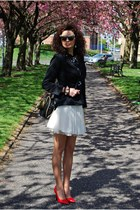 Lipsy skirt - Ebay blazer - Irregular Choice bag - Topshop blouse