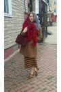 Wool-costume-national-coat-oversized-knit-vintage-scarf-saks-5th-ave-purse