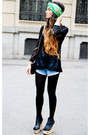 Jeffrey-campbell-shoes-zara-tights-chanel-purse-vintage-levis-jean-shorts