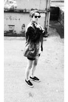 Zara coat - Superga sneakers - vagabond t-shirt