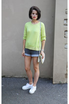 American Apparel shorts - COS jumper - Superga sneakers