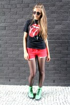 H&M boots - trifted shirt - cut-offs shorts - seppl glasses - trifted necklace