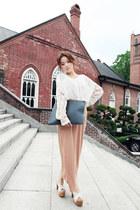 white Style Nanda blouse - nude Style Nanda skirt