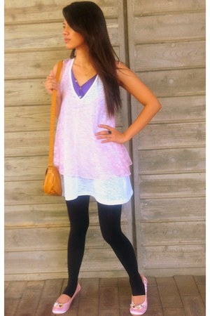 amethyst Uniqlo top - light pink lace cover up Forever21 top