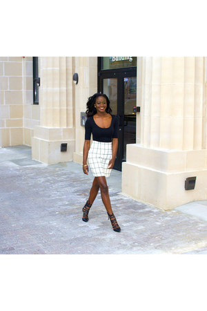 VALERIE APPAREL skirt - hm top - riverisland heels