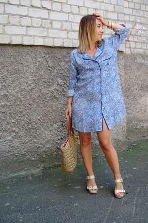 periwinkle Topshop dress - bronze Zara bag - tan Aldo sandals