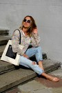 Periwinkle-zara-jeans-peach-topshop-sweater-black-topshop-sunglasses