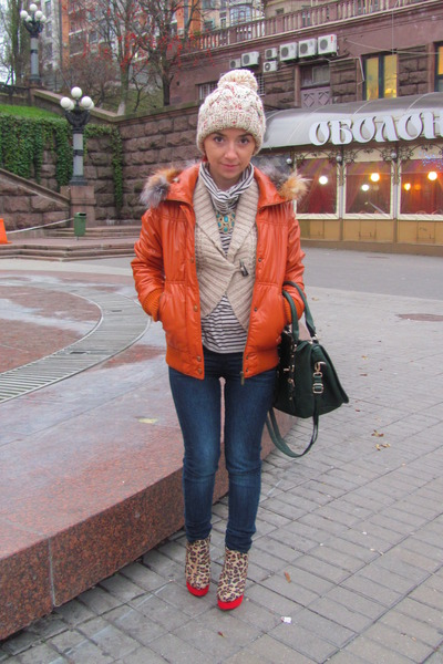 new look hat - new look shoes - Bershka jacket - new look bag - Bershka t-shirt