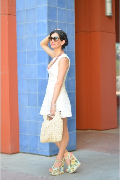 Color by Amber bracelet - H&M dress - vintage bag - Anthropologie necklace