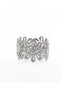Silver-flowers-wire-inpinkcom-bracelet