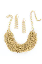 MATTE GOLD CHAINMAIL NECKLACE SET