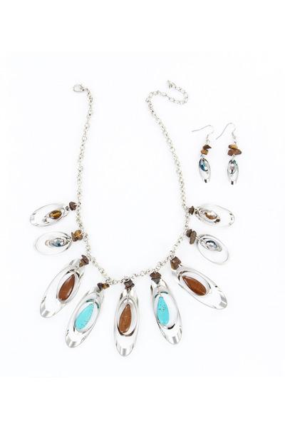 light brown stones INPINKcom necklace