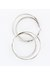 silver hoops INPINKcom earrings