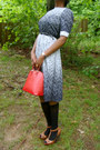 Dress-red-epi-louis-vuitton-purse-socks-patent-leather-coach-watch-black