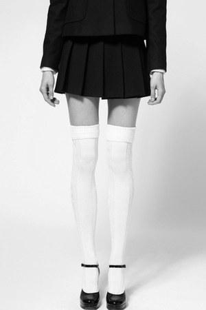 plain next blazer - socks - River Island heels - real nice H&M skirt