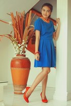 blue cutout Sassy pink dress