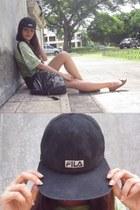 black fila hair accessory