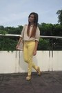 Yellow-pants-light-pink-bag-light-yellow-oxford-flats-peach-top