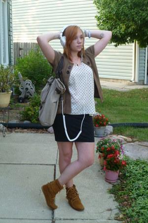 minnentonka boots - asoscom blouse - H&M skirt