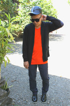 Milanos boots - cotton on hat - YRYS sunglasses - YRYS cardigan - CapitalG top
