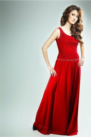 red I&W dress