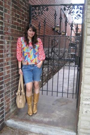 vintage shirt - Levi Strauss shorts - vintage - Oasis purse