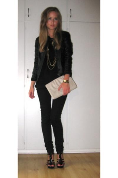 H&M t-shirt - casio - H&M necklace - GoJane shoes