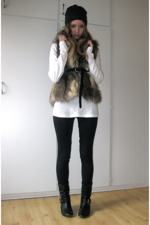 H&amp;M hat - H&amp;M sweater - Bik Bok vest - Skopunkten