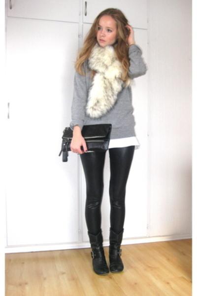 sweater - H&M t-shirt - Cubus - Skopunkten - Bik Bok - hlens purse