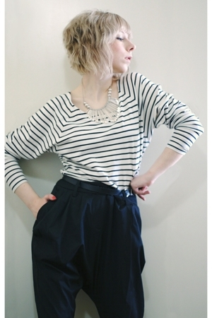Filippa K blouse - Vila pants - belt - H&M necklace