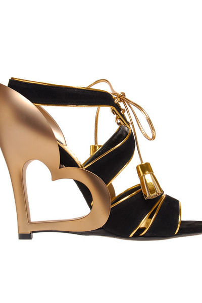 gold Marc Jacobs shoes