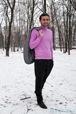 gray neil barrett pants - heather gray Zegna jacket