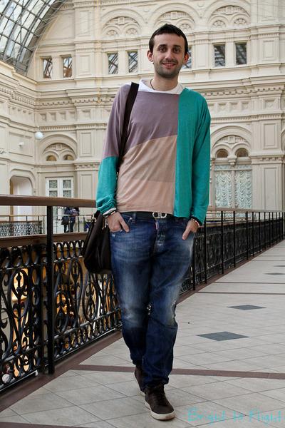 turquoise blue Tailor Shop jumper - blue Dsquared2 jeans