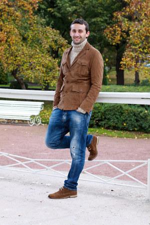 mustard calvin klein sweater - brick red Massimo Dutti boots