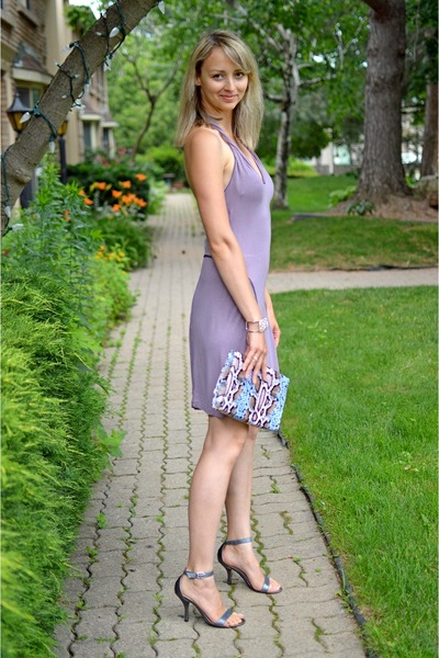 light purple Guess dress - H&M bag - swarovski bracelet