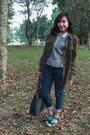 Jeans-brown-calvin-klein-jacket-leather-executive-bag-jeans-conextion-pants