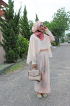 long dress Dian Pelangi dress - mint spike flat Color Box flats