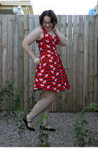 OASAP bag - scotty dog modcloth dress - mary janes Sportsgirl flats