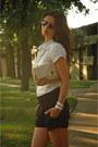 Camel-clutch-aldo-purse-white-ruffled-orsay-shirt-navy-orsay-shorts