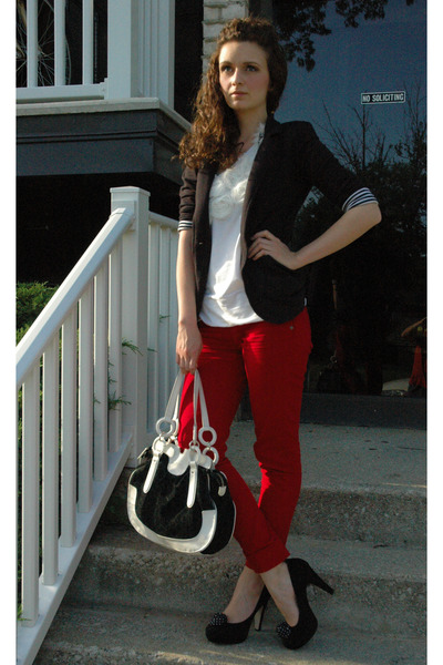 Ruby Red Ankle Biter Blue Spice Jeans, Black Material Girl Blazers ...