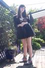 Black-blazer-black-skirt-dr-martens-boots-black-elle-macpherson-intimates-