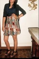 blazer - blouse - skirt - shoes - accessories