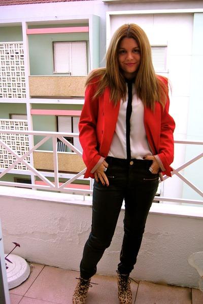 Zara blazer - Zara blouse - Zara pants - Topshop wedges