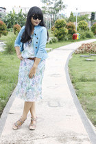flower unbranded dress - - unbranded blazer - cat Unbranden sunglasses