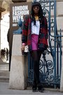 Cotton-coat-vintage-coat-hot-pink-asos-shorts-cotton-collar-asos-accessories