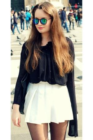 Zara top - H&M sunglasses - Ebay skirt